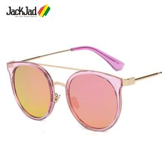 >> Click to Buy << JackJad 2017 New Fashion Women Round Style Double Beam Sunglasses Street Snap Brand Design Sun Glasses Oculos De Sol Feminino #Affiliate