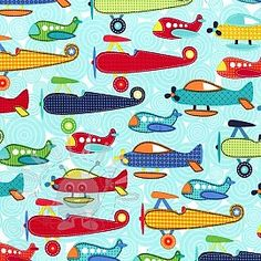 Cotton Print: Soar Airplanes on Aqua by Michael Miller Fabrics Tissu Michael Miller, Michael Miller Fabric, Airplane Fabric, Airplane Quilt, Aqua Fabric, Cotton Fabric, Boppy Cover, Thing 1, Fabric Remnants