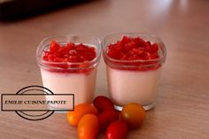 Panna cotta à la chévre et son tartare de tomates | Emilie cuisine et papote !