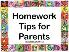 Homework Tips for Parents and Children