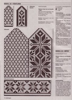 """Photo from album """"Accessoires on Yandex. Knitted Mittens Pattern, Fair Isle Knitting Patterns, Knitting Charts, Knit Mittens, Knitted Gloves, Knitting Stitches, Knitting Needles, Knitting Socks, Hand Knitting"""