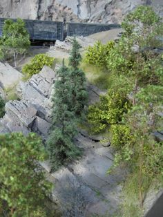 """Foam Rocks, """"Finished"""" scene   Model Railroad Hobbyist magazine   Having fun with model trains   Instant access to model railway resources without barriers"""