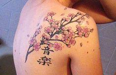 Tatuagem de flor de cerejeira (sakura) - GEEKISS