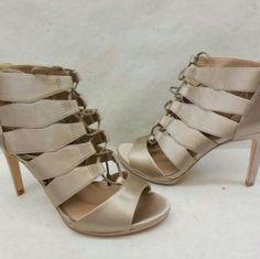 1fba4d9d2 BCBGMAXAZRIA Satin Laila Sandals Shoes. Price   40 Size  Various Open Toe