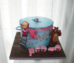 Masha and the bear cake - Cake by Rositsa Lipovanska Bear Birthday, Birthday Cake Girls, 3rd Birthday Parties, 2nd Birthday, Birthday Cakes, Masha Cake, Masha And The Bear, Bear Cakes, Girl Cakes