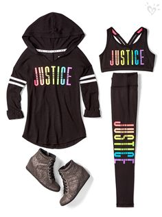 Show your Justice spirit with made-to-match leggings, tops and sports bras!