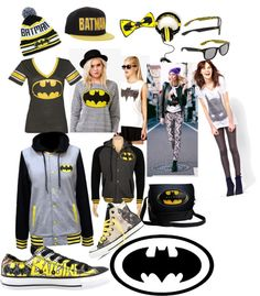 """batman style. ❤"" by solenn-desjardins ❤ liked on Polyvore"