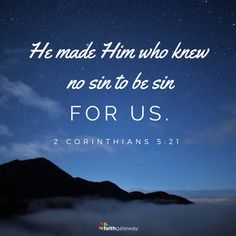 2 Corinthians 5:21: the gospel is God centered rather than man centered...