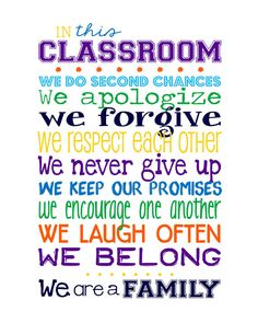 Classroom Rules for HIGH SCHOOL Classroom Multi by sweetleighmama