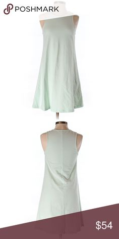 """{Tobi} Casual Dress Super cute, soft, and comfy light mint green shift/swing dress by Tobi. No zippers or ties. Stretches to fit over your head. Very easy to dress this up or keep it casual. Would look great with a sleeveless cropped Jean jacket. Fabric: 100% cotton. Appropriate measurements: 32"""" chest, 33"""" length. Size Small. Gently used. Excellent condition. Tobi Dresses"""