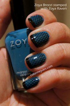Zoya Breezi stamped with Zoya Raven - www.colormejules.com