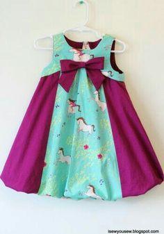 Sewing baby dress pattern fabrics ideas for 2019 Little Dresses, Little Girl Dresses, Girls Dresses, Cute Baby Dresses, Girls Frock Design, Baby Dress Design, Baby Frocks Designs, Kids Frocks Design, Baby Dress Patterns