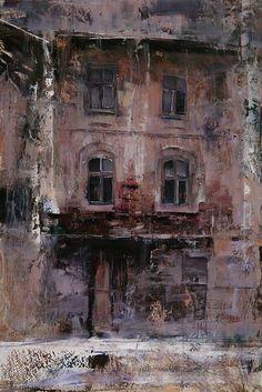 The House. Oil on linen, 15.7 x 23.4 in. Tibor Nagy