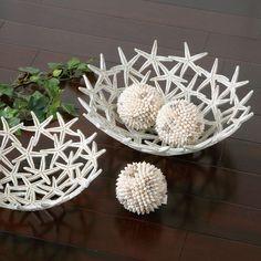 5 Piece Seaside Bowls & Décor Set