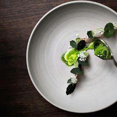 Artic char, danish oysters, white radish & nasturtium. by restaurant_aoc on gastroart's IG