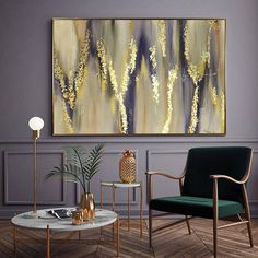 Large Abstract Oil Painting Gold Leaf Painting Silver Leaf !!! One picture is bought, the second is a small gift DETAILS * Name: Abstract Melody 2017 * Painter: Julia Kotenko * Size: 47 x 31 (120x 80 cm) * Original handmade oil painting on canvas,gold painting, gold leaf,silver leaf
