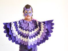 Kids Owl Costume Children Bird Wings and Mask Dress by BHBKidstyle