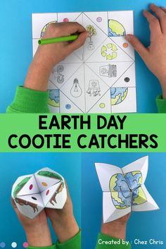 Looking for an engaging activity for April and earth day ? These cootie catchers are for you ! Print and let your students fold and play with this game. They can even create their own fortune teller as there is a blank template included. The visual is awesome : when it's closed, it represents a symbol of earth day ! Activities from kindergarten to middle school and homeschool. ESL students will also love it !