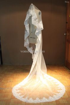 Wholesale Bridal Veil - Buy In Stock Cheap Lace Bridal Veil 3 Meters 1 Layer Long Lace Edge Ivory White Wedding Veil, $35.0 | DHgate