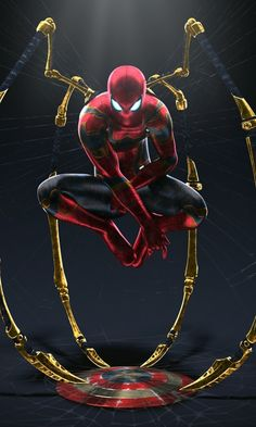 Spiderman with captain shield Black Spiderman, Amazing Spiderman, Spiderman Spider, Batman Dark, Marvel Comics Art, Marvel Heroes, Spiderman Vs Captain America, Spiderman Pictures, 480x800 Wallpaper