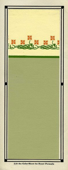 Brush and Pail::Historic Color Scheme::1917. Another idea for the living room.