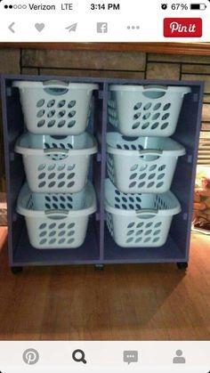 Elegant Laundry Room Organization, Clothing Rack with Rustic Wooden Sign – Laundry Room İdeas 2020 Laundry Basket Dresser, Laundry Baskets, Laundry Basket On Wheels, Organizar Closet, Farmhouse Laundry Room, Laundry Rooms, Laundry Area, Laundry Center, Laundry Room Organization