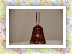 Czech Bohemian Etched Crystal Bell. Starting at $20