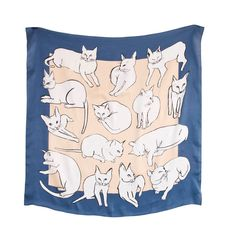 Image of Picasso Cats Scarf - Silk by Leah Reena Goren