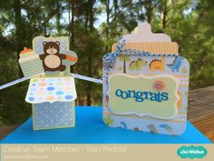 Artsy Albums Scrapbooking Kits and Custom Designed Scrapbook Albums by Traci Penrod: Blog Hop with Lori Whitlock Designs, Baby Bottle card and pop up box.