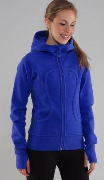 Lulumon scuba sweater in blue, mmm snuggy.