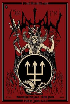 Watain Show Poster
