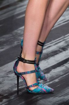 J. Mendel heels at New York Fashion Week.