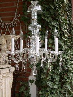 Venetian glass chandi. <3 #RedBarnEstates