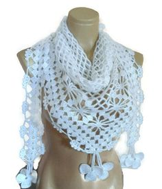 Crochet scarf White Lace scarf Women scarves Neck by likeknitting scarf white Items similar to Crochet scarf, White Lace scarf, Women scarves, Neck wrap, unique scarf on Etsy Crochet Scarves, Crochet Shawl, Handmade Gifts For Her, Lace Scarf, Scarf Jewelry, Neck Wrap, Neck Scarves, Neck Warmer, Womens Scarves