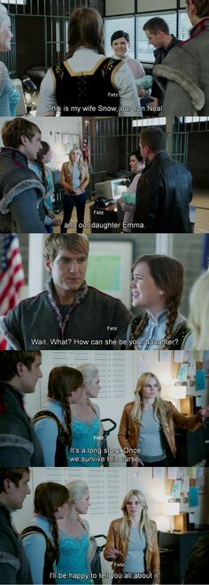 """""""Wait, What? How can she be your daughter."""" Anna, Emma and David - 4* 9 """"The Fall."""" #ShatteredSight #OnceisFrozen"""