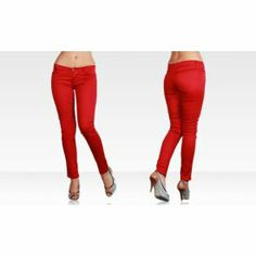 Aqua Sun Collection Women's Twill Pant: Deep Red--Just $7 to Buy it Now!
