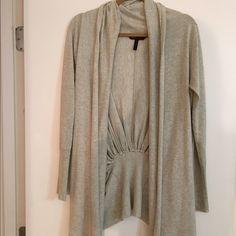 BCBG slouchy cardigan Grey- worn a few times BCBG Tops