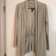 BCBG slouchy cardigan Grey- worn a few times BCBG Tops