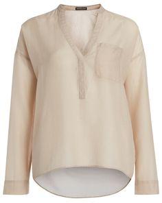 DRYKORN Blusen-Shirt BLANKA - beige  Jetzt auf kleidoo.de bestellen!  #kleidoo #fashion #trend #bluse #beige #drykorn #newseason