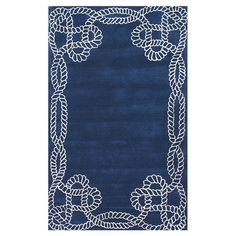 Handmade wool rug with a sailors knot motif.  Product: RugConstruction Material: 100% WoolColor: Roy...