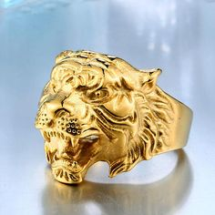 Stunning and beautiful tiger ring, available in silver and golden colors. Show who you are with the tiger rings! Available in those US sizes: 6 - 7 - 8 - 9 - 10 - 11 - 12 - 13 Good as a gift for yourself, or for a friend or loved ones. »»»»» Our products have special packaging to