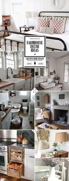 Vintage and Rustic Farmhouse Decor Ideas: Design Guide #vintagefarmhousedecor