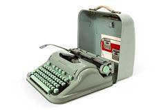 Seafoam Green Hermes Typewriter,  Old school. Love it!