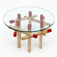 Maple Hexagon Matchstick Table $350 Touch of Modern  I think I can do this for way less! It will be interseting to try