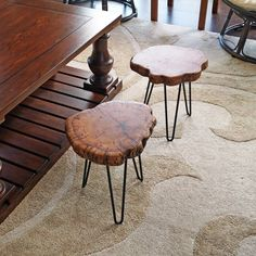 Straightforward DIY Wood Furniture Projects: An Introduction To Major Criteria In DIY Wood WorkingStraightforward DIY Woodworking Advice - The Best Routes - Gleason's DIY Tips Wood Slab Table, Stump Table, Wooden Side Table, Wood Tray, At Home Furniture Store, Log Furniture, Furniture Projects, Wood Projects, Western Furniture