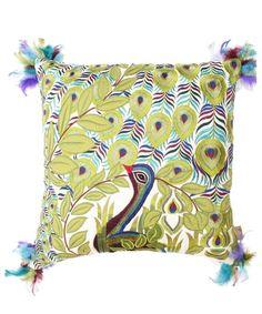 Thro By Marlo Lorenz Atria Peacock Pillow