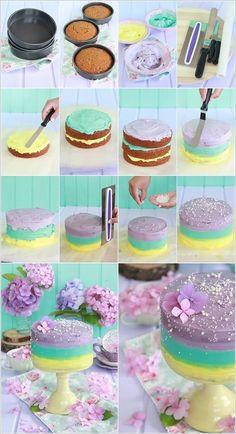 Purple Mint Yellow Cake