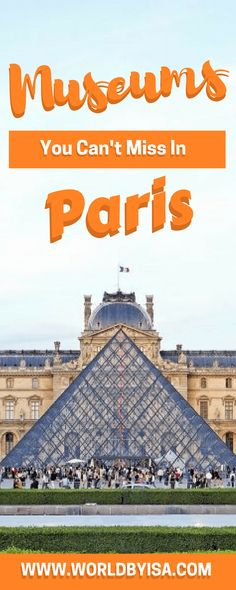 Choosing museums to visit in Paris can be a bit overhelwming, specially when you realise that they are more than 130! Indeed there are...