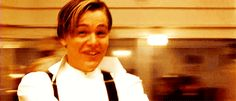 Jack (Leonardo DiCaprio) and Rose (Kate Winslet) dancing in class in 'Titanic' Jack Dawson, Film Titanic, Rms Titanic, Corazones Gif, Leo And Kate, Young Leonardo Dicaprio, James Cameron, Harry Potter, Cult Movies
