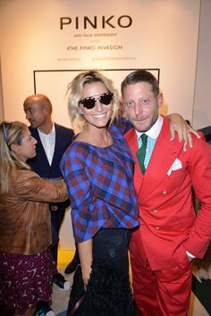 Federica Fontana and Lapo Elkann at #THEPINKOINVASION #sunglasses collection launch event #PINKO #MFW #SS16